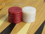 picture of Backgammon Checkers - High Gloss Marbleized Plastic - Red (1-1/2in. Dia.) - Set of 30 (3 of 3)