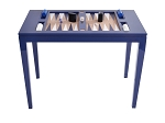 Lacquered Backgammon Table - Navy - Item: 2712