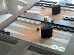 picture of Lacquered Backgammon Table - Wood (2 of 2)