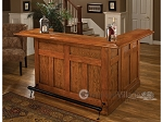 Classic Oak Large Bar with Side Bar - Item: 1985