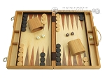 picture of 15-inch Wood Backgammon Set - Olive Wood (1 of 11)