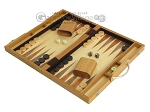 picture of 15-inch Wood Backgammon Set - Olive Wood (3 of 11)