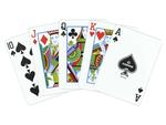 Copag Orange/Brown Playing Cards - Double Deck