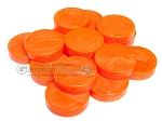 Backgammon Checkers - Mother Of Pearl - Plastic - Orange (1 1/2 in. Dia.) - Roll of 15 - Item: 2816