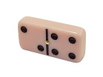 picture of DOUBLE 6 Pink Dominoes Set - With Spinners - Wood Box (2 of 2)