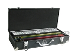White Swan Mah Jongg - White Tiles - Aluminum Case - Black - Item: 2334
