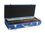 White Swan Mah Jongg - White Tiles - Aluminum Case - Blue - Item: 2336