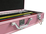 picture of White Swan Mah Jongg - White Tiles - Aluminum Case - Pink (4 of 11)
