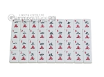picture of White Swan Mah Jongg - White Tiles - Aluminum Case - Pink (9 of 11)