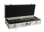 White Swan Mah Jongg - White Tiles - Aluminum Case - Silver - Item: 2337