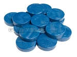 Backgammon Checkers - Mother Of Pearl - Plastic - Royal Blue - Roll of 15