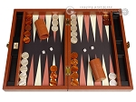 Zaza & Sacci® Leather/Microfiber Backgammon Set - Model ZS-305 - Small - Brown - Item: 2158