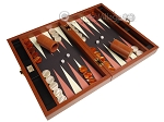 picture of Zaza & Sacci® Leather/Microfiber Backgammon Set - Model ZS-305 - Small - Brown (2 of 12)