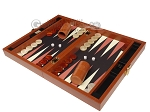 picture of Zaza & Sacci® Leather/Microfiber Backgammon Set - Model ZS-305 - Small - Brown (3 of 12)