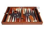 picture of Zaza & Sacci® Leather/Microfiber Backgammon Set - Model ZS-305 - Small - Brown (4 of 12)