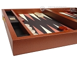 picture of Zaza & Sacci® Leather/Microfiber Backgammon Set - Model ZS-305 - Small - Brown (5 of 12)