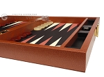 picture of Zaza & Sacci® Leather/Microfiber Backgammon Set - Model ZS-305 - Small - Brown (6 of 12)