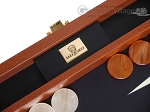 picture of Zaza & Sacci® Leather/Microfiber Backgammon Set - Model ZS-305 - Small - Brown (7 of 12)