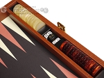 picture of Zaza & Sacci® Leather/Microfiber Backgammon Set - Model ZS-305 - Small - Brown (8 of 12)