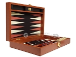 picture of Zaza & Sacci® Leather/Microfiber Backgammon Set - Model ZS-305 - Small - Brown (9 of 12)