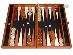 Zaza & Sacci® Leather/Microfiber Backgammon Set - Model ZS-425 - Brown - Item: 2163