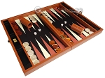 picture of Zaza & Sacci® Leather/Microfiber Backgammon Set - Model ZS-425 - Brown (2 of 12)