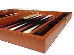 Zaza & Sacci® Leather/Microfiber Backgammon Set - Model ZS-425 - Brown