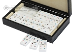 Double 6 Swarovski Colored Crystal Dominoes Set - Black Croco Case