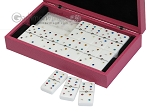 picture of Double 6 Swarovski Colored Crystal Dominoes Set - Pink Leather Case (3 of 6)