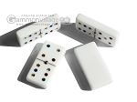 picture of Double 6 Swarovski Colored Crystal Dominoes Set - Pink Leather Case (6 of 6)
