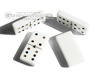 picture of Double 6 Swarovski Colored Crystal Dominoes Set - White Croco Case (6 of 6)