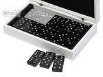 picture of Double 6 Swarovski Crystal Black Dominoes Set - White Croco Case (3 of 6)