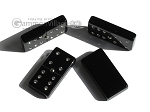 picture of Double 6 Swarovski Crystal Black Dominoes Set - Brown Lizard Case (6 of 6)