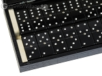 picture of Double 6 Swarovski Crystal Black Dominoes Set - Black Croco Case (2 of 6)