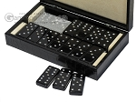 picture of Double 6 Swarovski Crystal Black Dominoes Set - Black Croco Case (3 of 6)