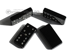Double 6 Swarovski Crystal Black Dominoes Set - Black Croco Case