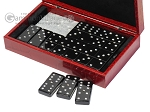 picture of Double 6 Swarovski Crystal Black Dominoes Set - Red Croco Case (3 of 6)