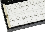 picture of Double 6 Swarovski Crystal White Dominoes Set - Black Croco Case (2 of 6)