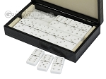 picture of Double 6 Swarovski Crystal White Dominoes Set - Black Croco Case (3 of 6)