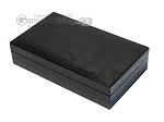 picture of Double 6 Swarovski Crystal White Dominoes Set - Black Croco Case (4 of 6)