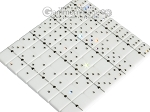 picture of Double 6 Swarovski Crystal White Dominoes Set - Black Croco Case (5 of 6)