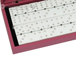 picture of Double 6 Swarovski Crystal White Dominoes Set - Pink Leather Case (2 of 6)