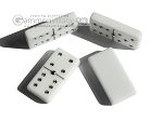 picture of Double 6 Swarovski Crystal White Dominoes Set - Pink Leather Case (6 of 6)