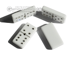 picture of Double 6 Swarovski Crystal White Dominoes Set - White Croco Case (6 of 6)