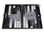 picture of Hector Saxe Carbon Linen/Felt Travel Backgammon Set - Black (1 of 12)