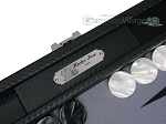 picture of Hector Saxe Carbon Linen/Felt Travel Backgammon Set - Black (8 of 12)
