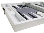 picture of Hector Saxe Carbon Linen/Felt Travel Backgammon Set - White (5 of 12)