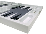 picture of Hector Saxe Carbon Linen/Felt Travel Backgammon Set - White (6 of 12)