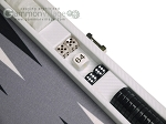 picture of Hector Saxe Carbon Linen/Felt Travel Backgammon Set - White (7 of 12)