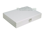 picture of Hector Saxe Carbon Linen/Felt Travel Backgammon Set - White (12 of 12)